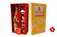 Rượu Sake Hakushika 1.8L Hộp quà cùng chén sứ cao cấp