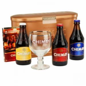 Hộp quà tặng Bia Chimay 3 chai 330ml và 1 ly