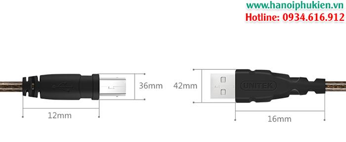 cáp máy in canon, cáp máy in epson, cáp máy in hp 1.8m, 3m, 5m, 10m unitek