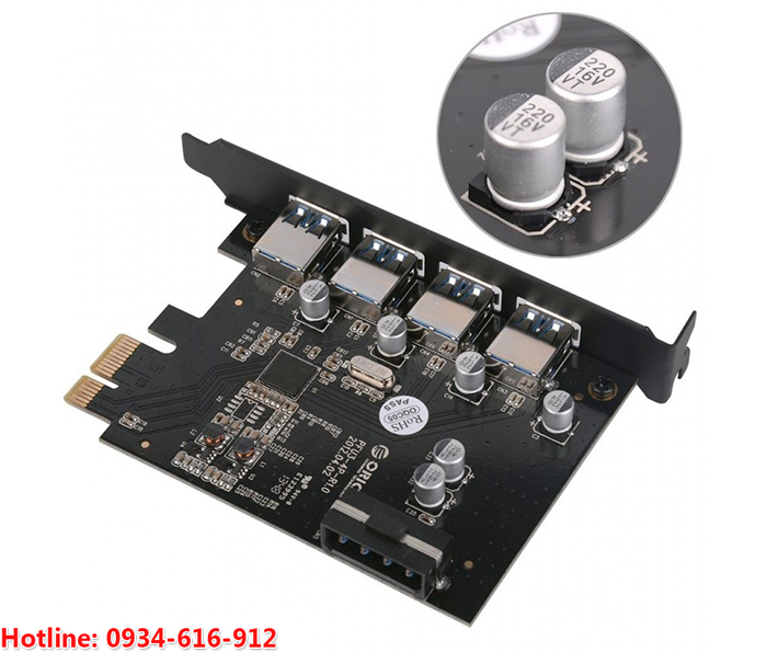 orico pme-4u card pci-e to usb 3.0 phukien2tech.com
