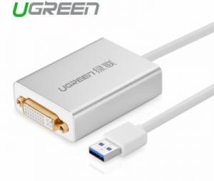 Cáp USB 3.0 to DVI-I Dual Link Ugreen 40243 chính hãng