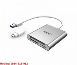 Đầu đọc thẻ nhớ đa năng USB 3.0 Type C Unitek Y-9313D