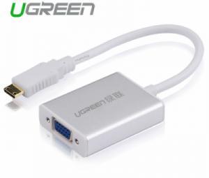Cáp chuyển đổi Mini HDMI sang VGA Audio Ugreen 40217 chính hãng