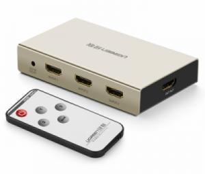 Bộ gộp HDMI 3 vào 1 ra hỗ trợ 3D FULLHD 4K Ugreen 40278