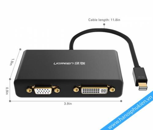 Cáp chuyển đổi Mini Displayport to HDMI VGA DVI Ugreen 10438 10440