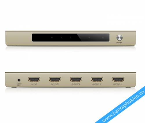 Bộ chia hdmi 1 ra 4 hỗ trợ full hd 3d 4k ugreen 40277 hanoiphukien.vn
