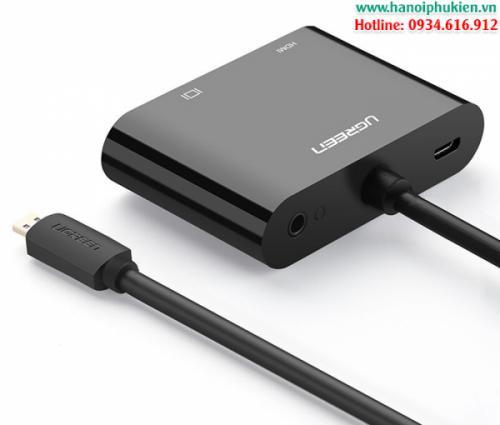 Cáp chuyển đổi Micro HDMI to VGA và HDMI Ugreen 30355-30354 chính hãng