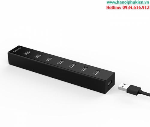Bộ chia USB 2.0 7 Port Orico H7013-U2 hỗ trợ nguồn ngoài
