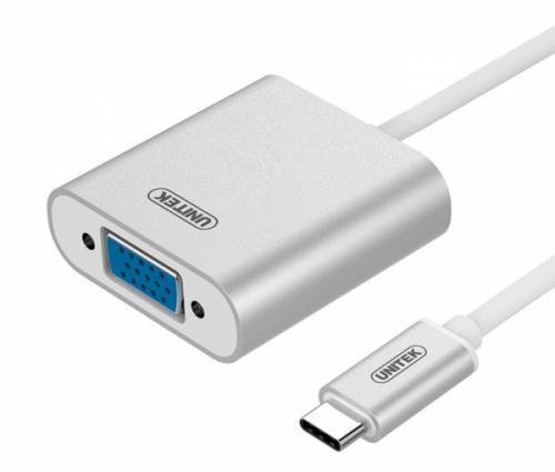 Cáp USB 3.1 Type C sang VGA Unitek Y-6308 chính hãng