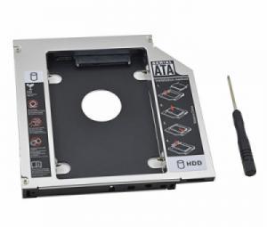 Khay gắn SSD-HDD cho Laptop Caddy Bay loại dày 12.7mm