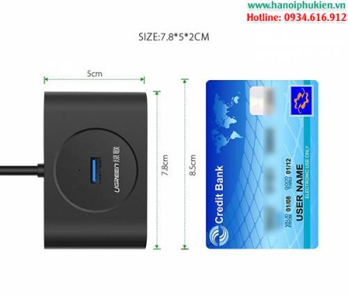 Bộ chia USB 3.0 4 cổng Ugreen 20291 hỗ trợ nguồn ngoài