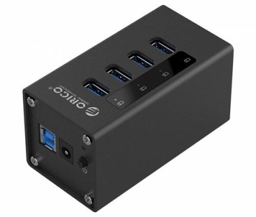 Bộ chia USB 3.0 4 cổng Orico A3H4 hỗ trợ nguồn ngoài