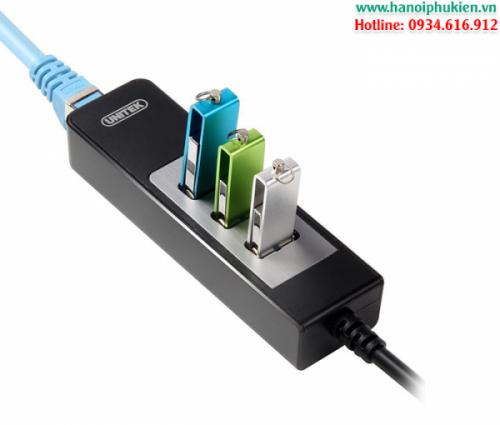Bộ chia USB 3.0 3Port+Lan Gigabit Unitek Y-3045