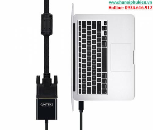 Cáp Mini Displayport, Thunderbolt to DVI 24+5 cho Macbook Unitek Y-6326BK