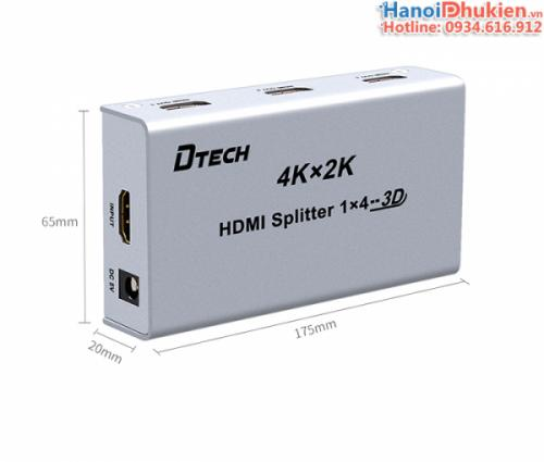 Bộ chia HDMI 1 ra 4 4Kx2K, 3D Dtech DT-7144